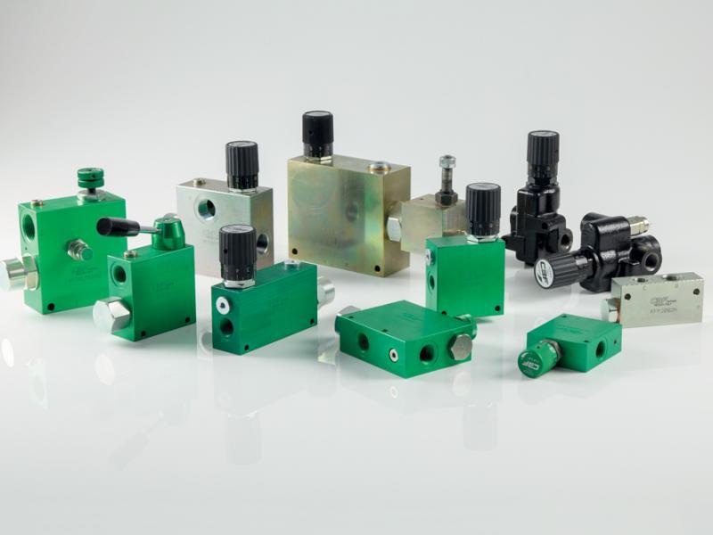 Photo composants hydrauliques DÉBIT Hydea